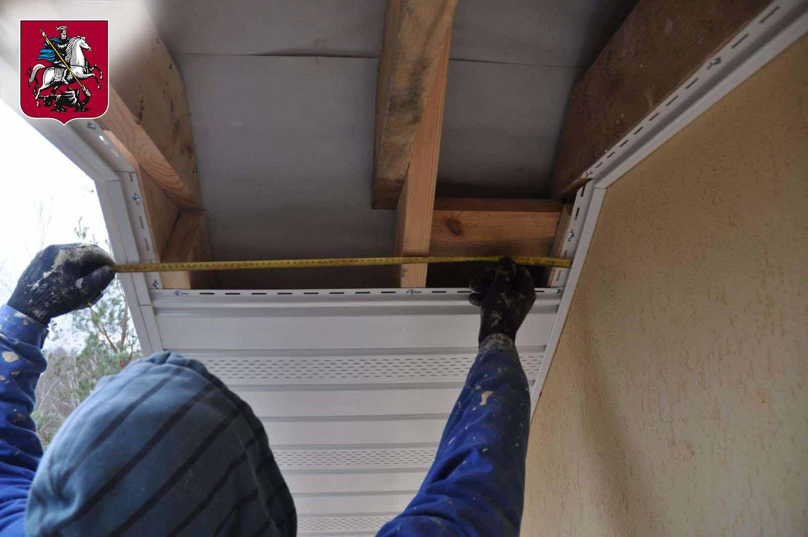 Подшивка свесов крыши